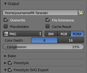 Freestyle Output Settings
