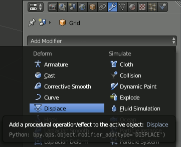 06 Add Displace Modifier