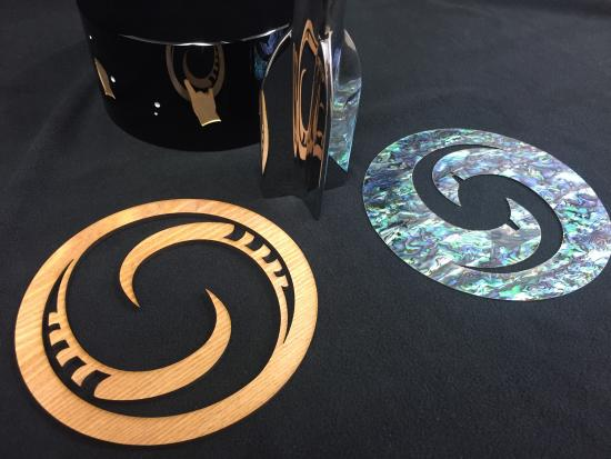 Laser cut components of 2020 Hugo Award
