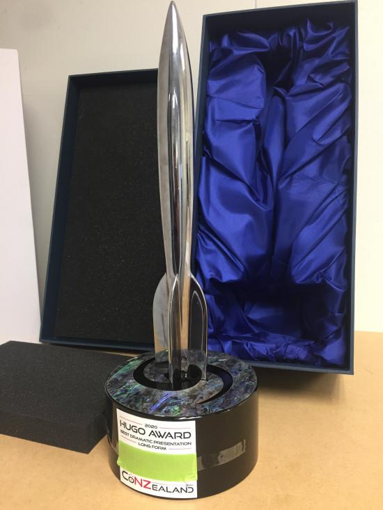 Preproduction Hugo Award and Shipping Box